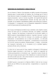 Ministerio de Transporte y Obras Públicas - Presidencia de la ...