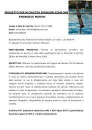 progetto per richiesta sponsorizzazione emanuele marini - Youmark