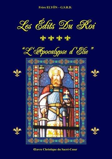 Les Édits Du Roi - Frère Elyôn Prophète du Sacré-Coeur
