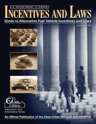 Incentives and Laws: Guide to Alternative Fuel Vehicle ... - NREL