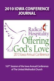 2010 Iowa Conference Journal - General Commission on Archives ...