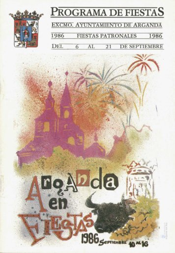 Programa de Fiestas - Archivo de la Ciudad de Arganda del Rey ...