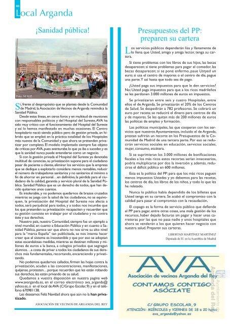 """Revista """" Este de Madrid"""" - Archivo de la Ciudad de Arganda del ..."""