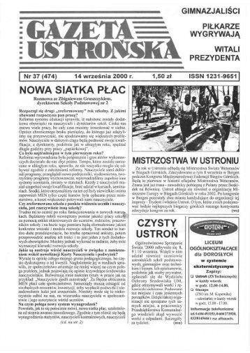 Gazeta Ustrońska nr 37 / 00