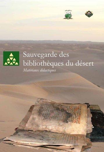 Sauvegarde des bibliothèques du désert» en Mauritanie - SIRPAC