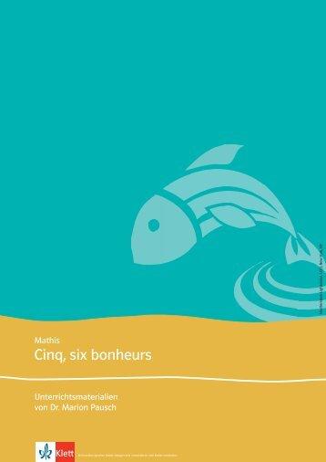 591405 Cinq, six bonheurs Download (PDF ... - Ernst Klett Verlag
