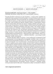 Reinhard BRANDT - Argument