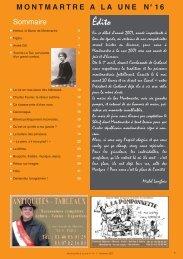 journal 16 dimanche.qxp - Montmartre à la une