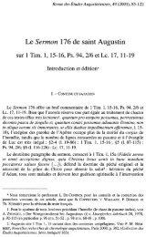 Le Sermon 176 de saint Augustin