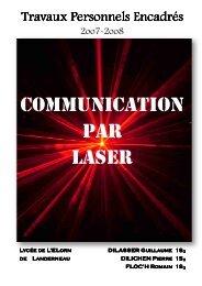 Communication numérique par faisceau laser - Lycée de L'Elorn de ...