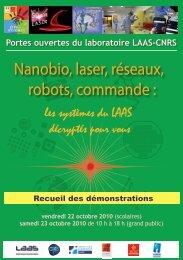 Nanobio, laser, réseaux, robots, commande : - LAAS CNRS