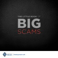 THE LITTLE BOOK OF BIG SCAMS - Scottish Business Crime Centre