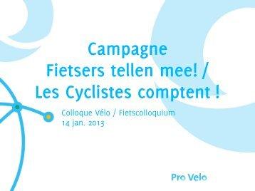 Les Cyclistes comptent - Bruxelles Mobilité