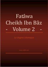 Fatâwa Cheikh Ibn Bâz Volume 2