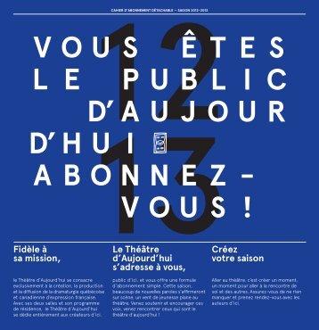 télécharger le formulaire en PDF - Théâtre d'Aujourd'hui