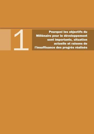 L'importance des objectifs du Millénaire pour le développement
