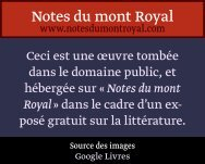 de m. nisard - Notes du mont Royal