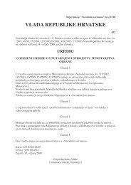 uredba o izmjenama i dopunama uredbe o unutarnjem ustrojstvu ...