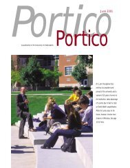 Portico - Frederick D. Hill Archives - University of Indianapolis