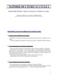 MAÎTRISE DE L'ÉCRIT AU CYCLE 2 - Académie de Reims