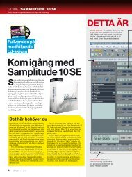 Guide Samplitude 10 SE - IDG.se