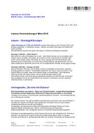 inatura-Veranstaltungen März 2010 inatura – Sonntagsführungen ...