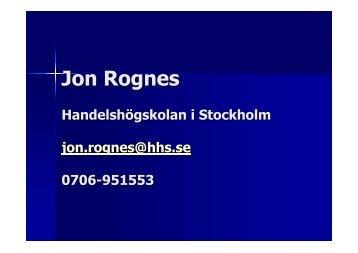 Jon Rognes - IDG.se