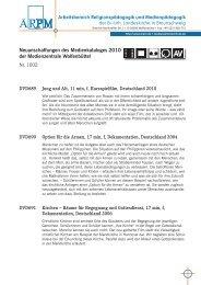 Neuanschaffungen des Medienkataloges 2010 der ... - ARPM