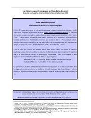 La détresse psychologique au Bas-Saint-Laurent - Agence de la ...