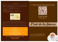 Télécharger la plaquette de Café Expo 2004 - Melys