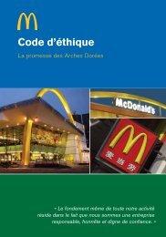 Code d'éthique - McDonald's