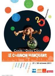 Programme Festival 2011 - Le Chainon / FNTAV