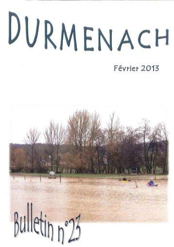 Bulletin n° 26 de Février 2013 - Durmenach.fr