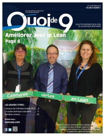 Volume 8 numéro 1 - Centre de santé et de services sociaux du Lac ...