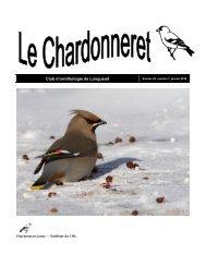Janvier 2010 - Club d'ornithologie de Longueuil - Regroupement ...