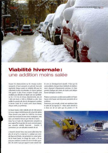Article magazine janvier 2011
