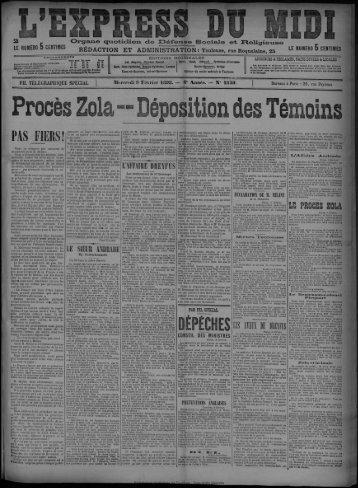 Mercredi 9 Février 1898. - Bibliothèque de Toulouse