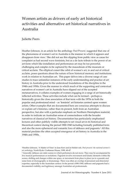4-JP/1 - Journal of Art Historiography
