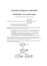 Artificiėle intelligentie 1 (2002-2003) Voorbeelden van examenvragen