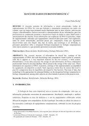 banco de dados em bioninformática 1. introdução - Artigo Científico
