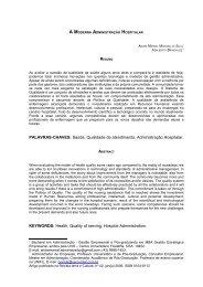 Saúde, Qualidade de atendimento, Administração ... - Artigo Científico