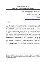 CORREO MONETRIA - Artigo Científico