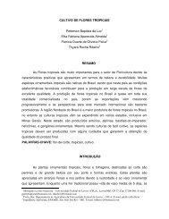 CULTIVO DE FLORES TROPICAIS Petterson ... - Artigo Científico