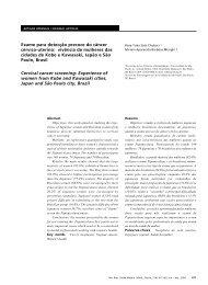 Exame para detecção precoce do câncer cérvico ... - Artigo Científico