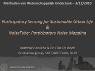 3/12/2010 Participatory Sensing for Sustainable Urban Life ...