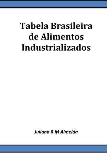 Tabela Brasileira de Alimentos Industrializados - Artigo Científico