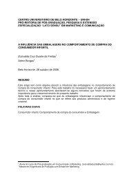 CENTRO UNIVERSITÁRIO DE BELO HORIZONTE ... - Artigo Científico