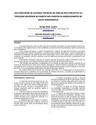aplicabilidade de algumas técnicas de análise ... - Artigo Científico