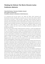 Conference paper abstracts - University of Brighton - Faculty of Arts