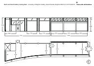 north_south gallery plan and east elevation copy - University of ...
